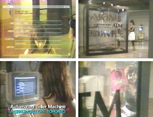 Laurie Brown and Money, an interactive sculpture created by D. Nile (a.k.a. Billiam James) for A Space exhibition Guerrilla Tactics, 1987